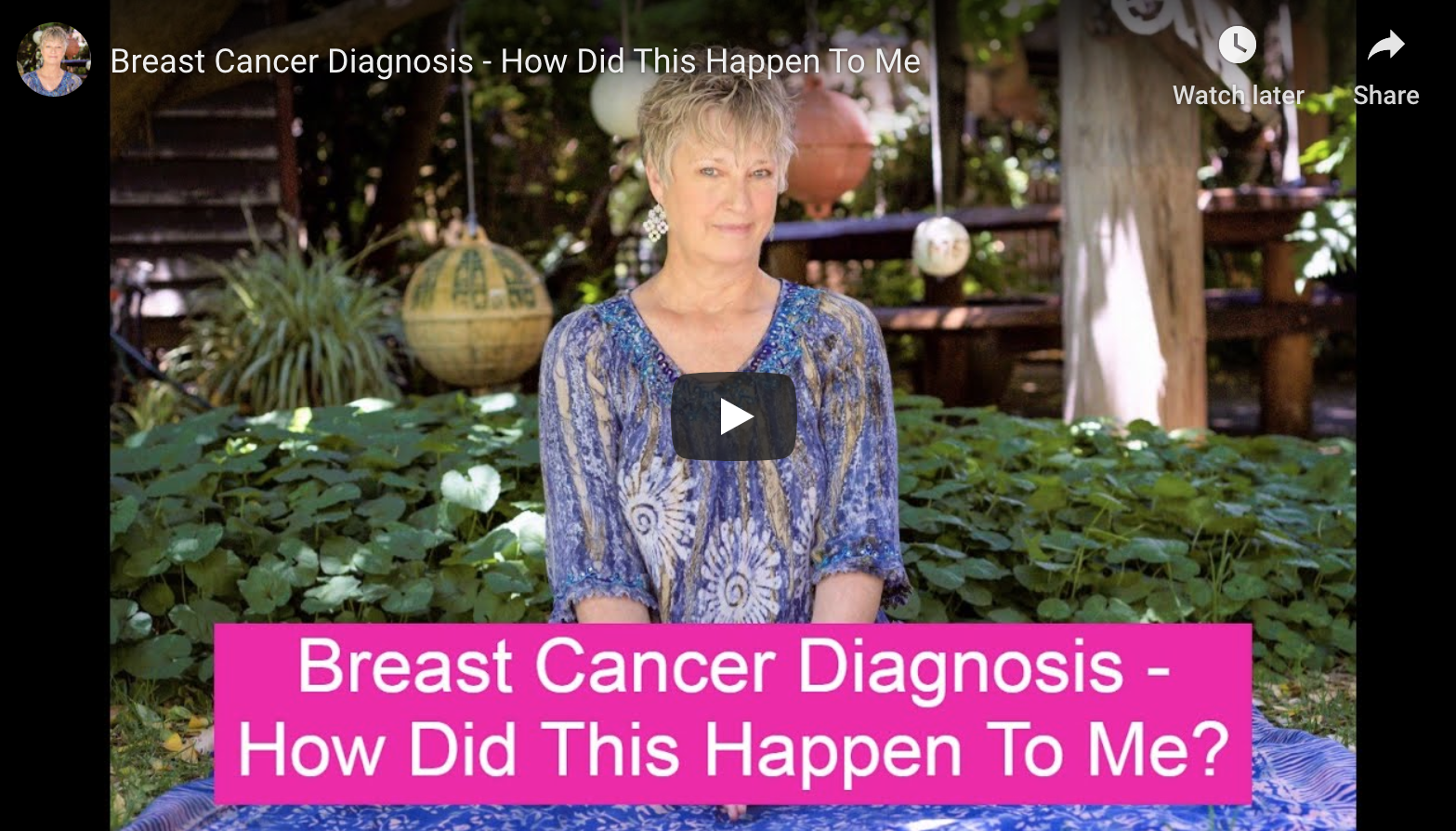 Breast Cancer Diagnosis – How Did This Happen to Me?